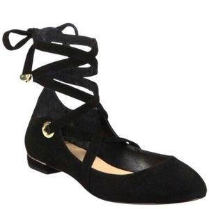 Diane von Furstenberg Dakar Lace Up Ballet Flat
